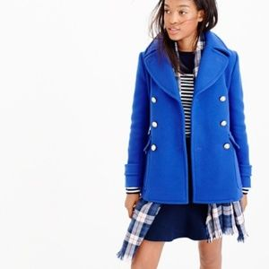 J Crew Majesty Stadium Cloth Peacoat $298 Coat 4